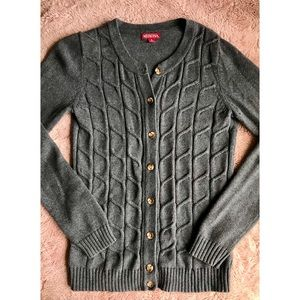 Warm Gray Button Up Cardigan